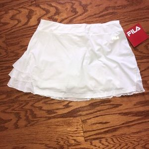 NEW White FILA athletic skort
